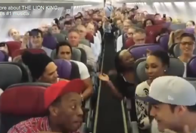 The Cast Of 'The Lion King' Takes Over A Flight With The Power Of Song (Video)